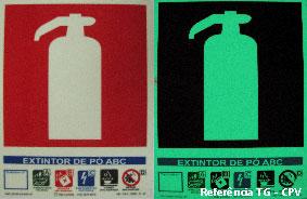 Chapas Fotoluminescentes Aplicação