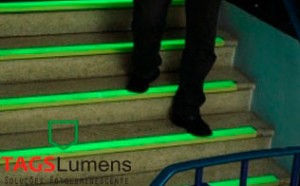 Fitas Fotoluminescentes Aplicação